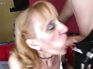 grandmother gets drilled by her toyboy