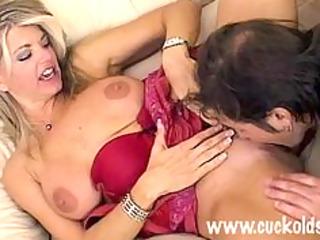 hot cuckold wife vicky vette bonks the gardner