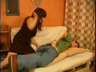 milf punishes her sons friend for not doing