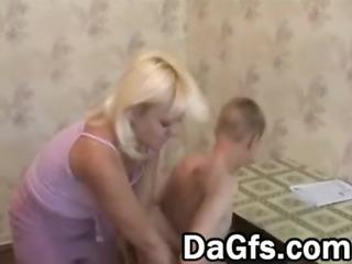 youthful lad against blonde older