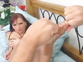 redhead fucking and foot fetish in ripped up