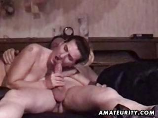 mature dilettante couple homemade hardcore action