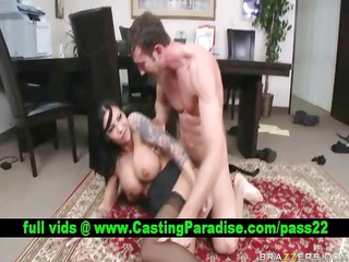 mason moore stunning dark brown receives anal