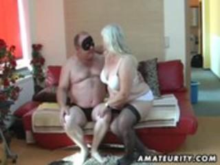 plump non-professional wife sucks and bonks on