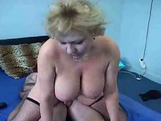 mature chubby sweetheart rides a hard sausage