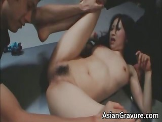 brunette hair asian lady ends up overspread part7