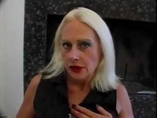 blond old granny tart in fishnets bonks