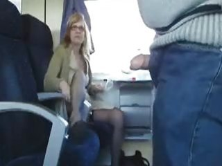 public sex in the train with breasty mother i
