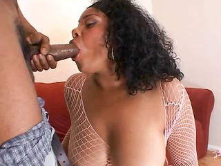 chubby darksome slut has large scones and a large