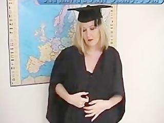 strict english schoolteacher in dark nylons and