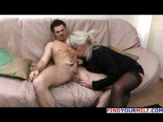 aged golden-haired russian elena blows his knob