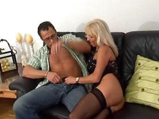 sexy, aged blonde receives screwed in her pierced