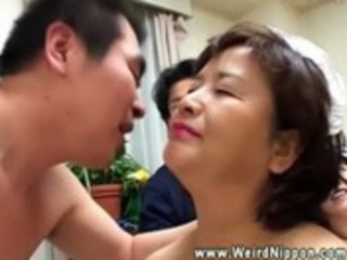 asian matures have a fun playing with every other