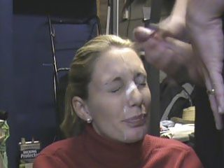 wife receieving biggest facial in the garage