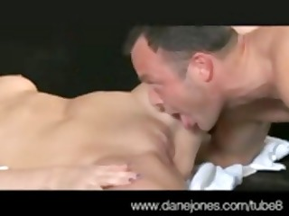 dark brown with freshly bald cunt gets and gives