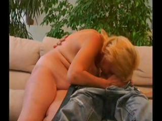 old golden-haired granny gets a youthful guy to