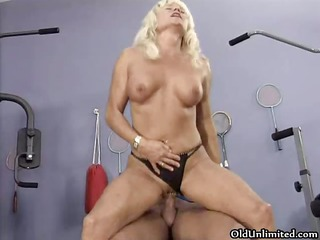 wicked golden-haired housewife goes insane riding