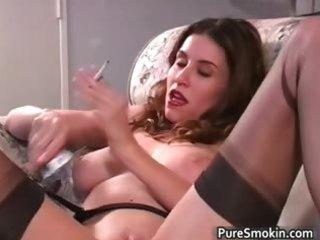 foxy brunette milf jamie lynn smokes part4