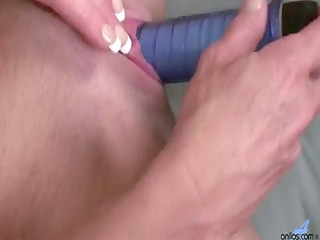 tattooed large tit golden-haired toys with a
