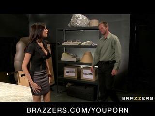 hawt big-tit lascivious pornstars fuck their boss