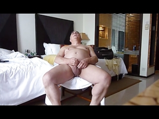 older solosexual showing his genitals and cumming