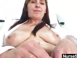 mature mama karin shows off shaggy