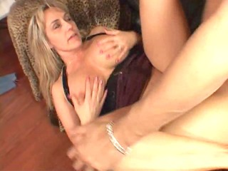 large titted milf is glad her boyfriend came home