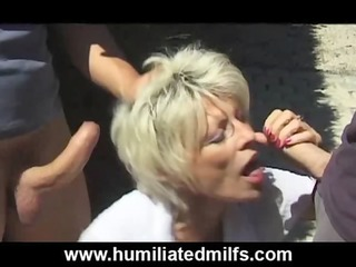 wicked gilf pisses &_ copulates outdoors