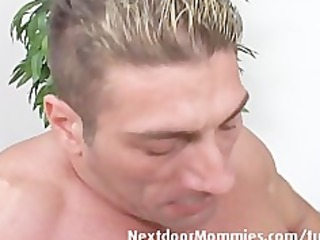 blond aged mom takes it is anal