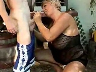 older couple fucking in the back yard