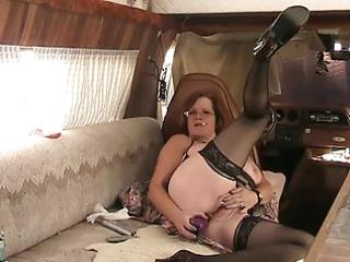 bbw granny fucks booty