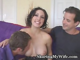 sissy hubby watches sexy wife