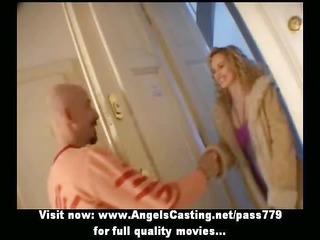 long hair golden-haired bride toying dick