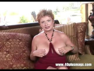 perverse granny receives excited