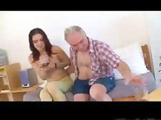 small tittted babe acquires screwed by older man