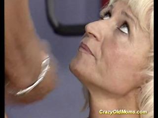 avid old mama receives hard screwed