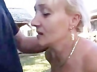 german mature with great blow job skills gets